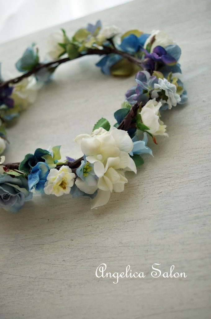 ブルー花かんむり