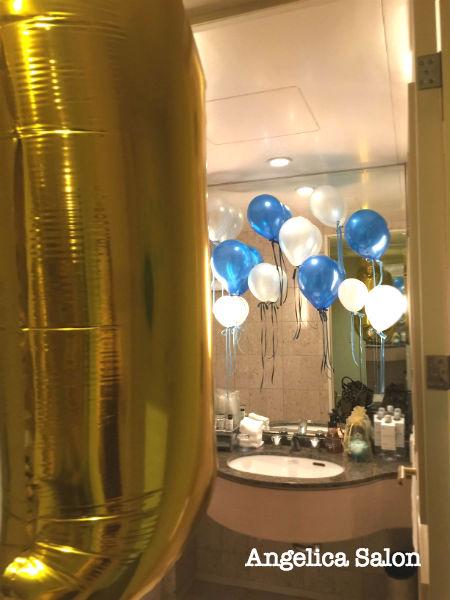 バースデーコーディネイト、ブルー、風船