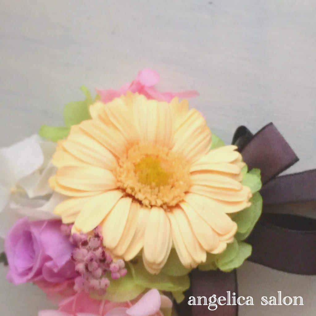 プリザーブドフラワー、バラ、ガーベラ 、紫陽花