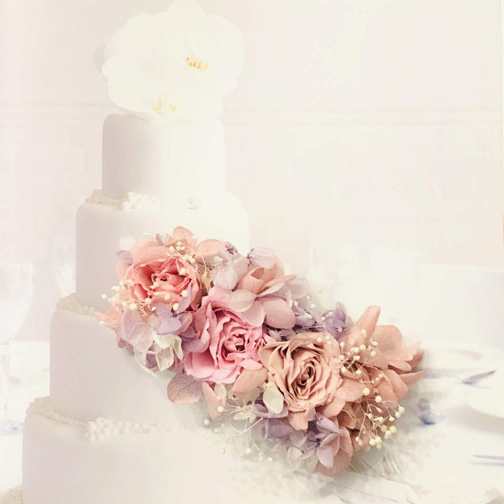 プリザーブドフラワー、バラ、紫陽花、ピンク、バレッタ