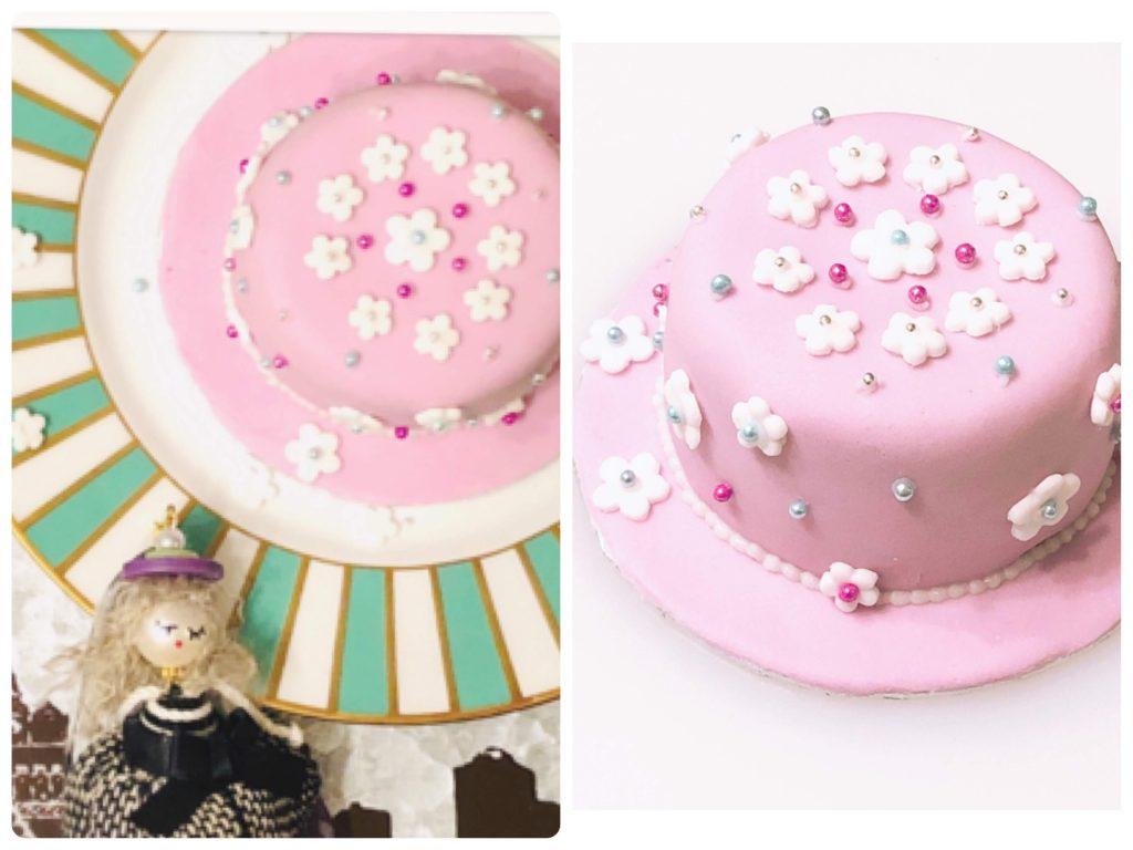 シュガーケーキ、ピンク