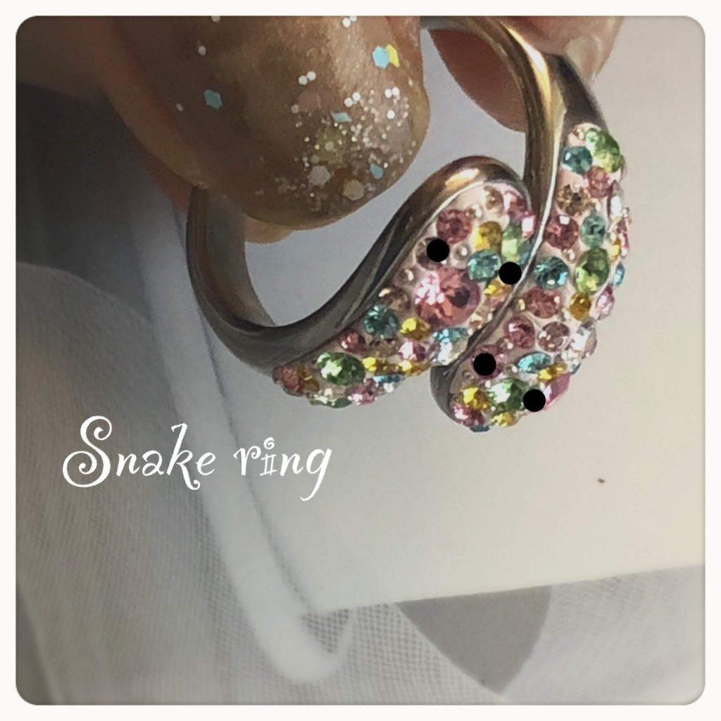 スワロフスキーリング、スネークリング、指輪