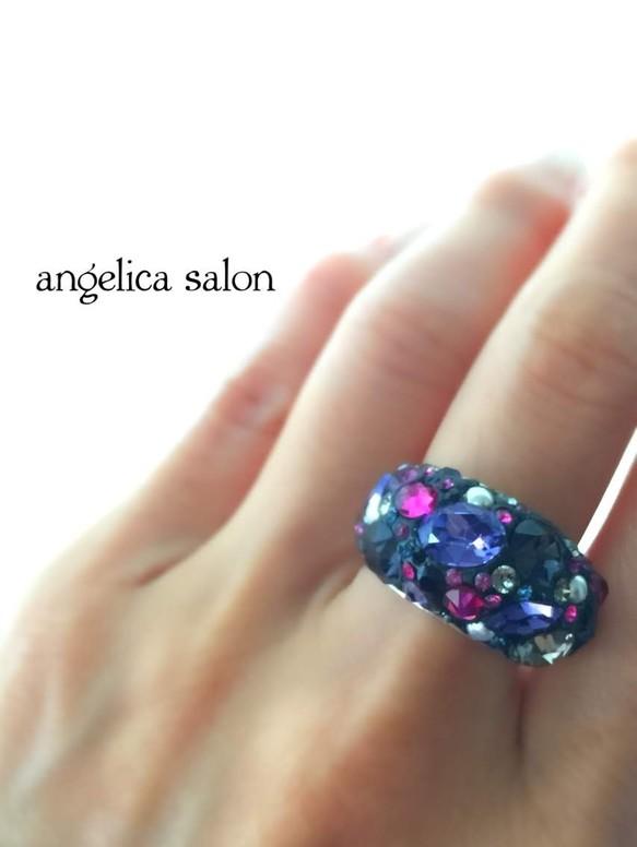 アナスイのイメージ、指輪、スワロフスキーリング
